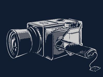 Apollo 11 Hasselblad poster illustration nasa space camera