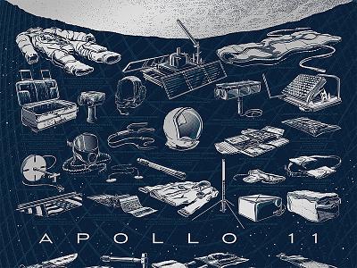 The Apollo 11 Collection Kickstarter kickstarter art nasa screen print illustration poster space