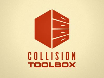 Collision Toolbox Logo toolbox designers resources tools files vectors box red logo
