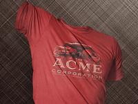 ACME Corporation T-Shirts illustration apparel print screen print anvil red cartoon acme tshirt shirt