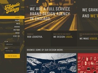Fantastic Factory Website branding agency website reel portfolio design agency