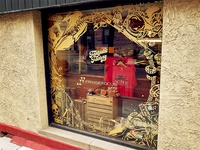 Window Vinyl @ Fantastic Factory branding gold laser cut laser signage sign print decal vinyl window