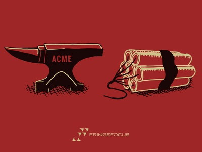 Some quality ACME products acme illustration dynamite anvil explosive drawing art