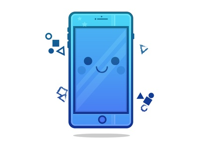 Happy Phone Character
