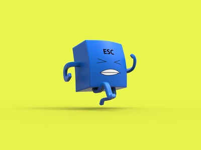 Escape From Work animation illustration concept 3d