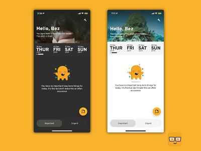 Ghost - Personal schedule app calendar scheduler app ui