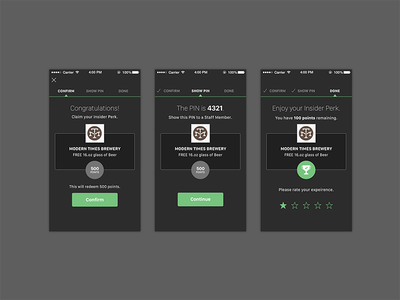 Claim Process ux ios 8 native app sketch mobile ui