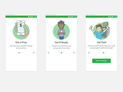 Onboarding Screens - Android App illustrations mobile ui