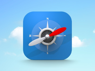 Flying Safari icon icons ios safari apple branding creative ios7 iphone ipad navigation