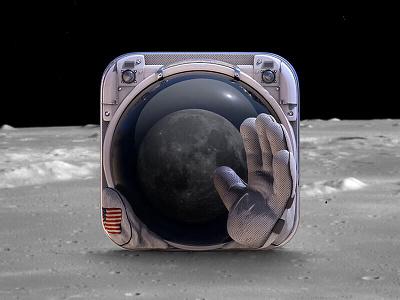 Astronaut app icon app icon icons branding astronaut space ios moon stars graphic design