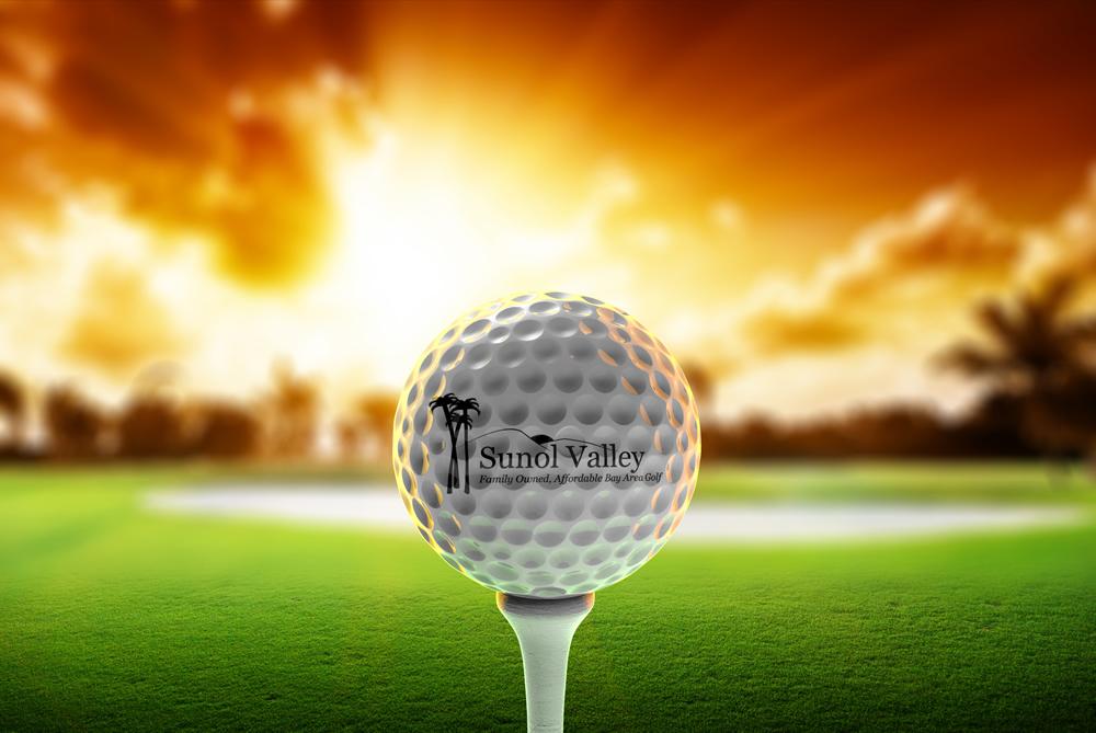 Golf ball sunset scene 1000px