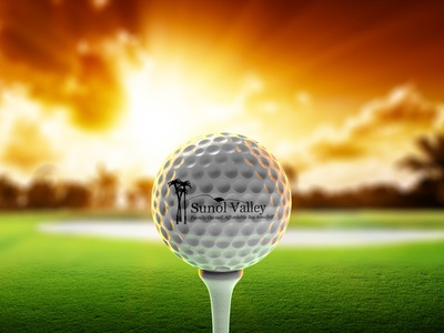Golf course branding golf branding ball 3d graphic design background colors creative sports wallpaper