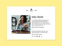 Personal Website 1.0