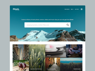 iStock rebrand istock rebrand clean minimal slow saturdays huge images open space