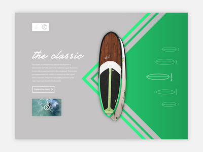 SurfLab ui ux design web abstract redesign unsolicited minimal surfing behance