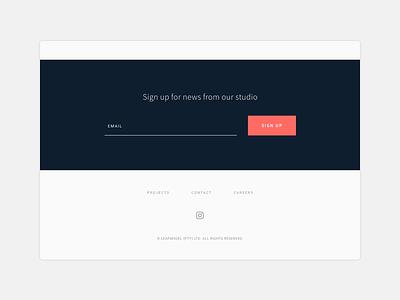 Footer web site web design web design website footer detail minimal