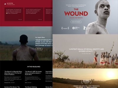Inxeba (The Wound) website movie microsite film south africa the wound wound inxeba