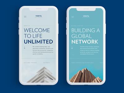 Verita Healthcare Group responsive global minimalism clean mobile minimal website healthcare verita