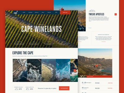 NAC Helicopters clean design initial concept website adventure travel minimal helicopters