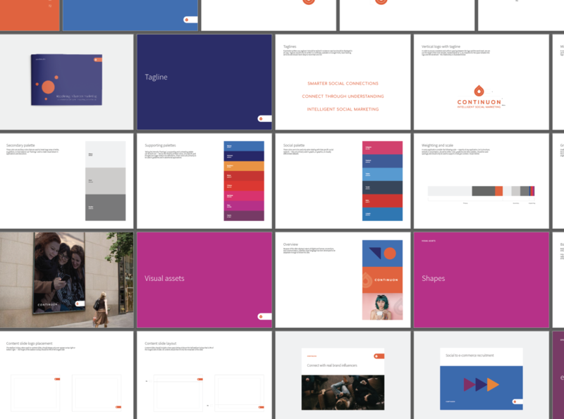 Continuon branding brand guide minimal brand design brand designer branding brand