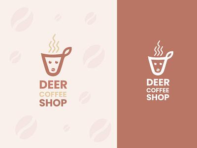 Deer Coffee Logo dribbble logo new logo 2021 logo creative logo gradient logo minimal logo modern logo logo ui illustration design icon branding designer branding graphic designer logotype logo designer deer logo deer coffee logo coffee logo