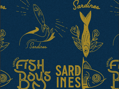 The Sardines T-Shirt Design Contest sardines fish band merch band tees illustrator illustration