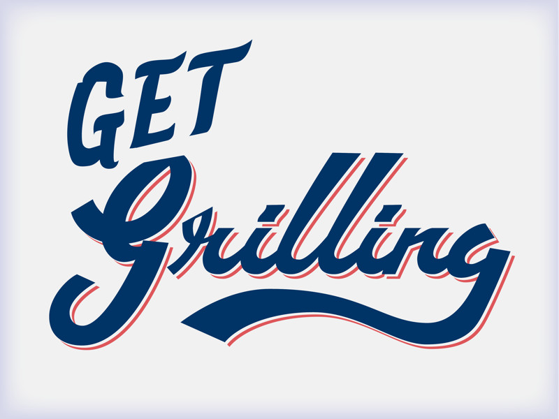 Summertime Grillin' lettering