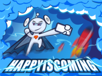 Happy is coming
