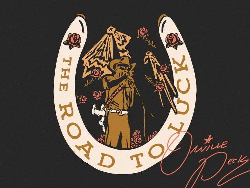 Orville Peck country music lucky country cowboy hat cowboy horeshoe road to luck luck orville peck roses