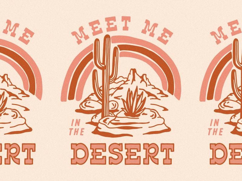 Desert Rainbow arizona cactus desert illustration illustration graphic tee graphic t shirt design shirt rainbow desert rainbow desert