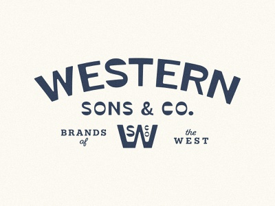 Western Sons & Co custom typography cowboy desert branding design logo custom logo branding reverse contrast custom type western