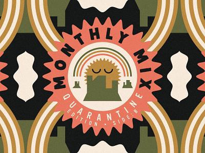 Monthly Mix: Quarantine Edition Sides A & B cd artwork cd packaging rainbow socks and slides desert sun album artwork quarantine music music art cd cover album art monthly mix