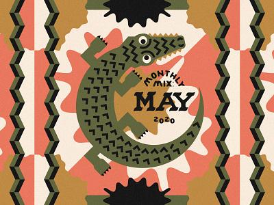 Monthly Mix: May playlist cover playlist crocodile alligator album art cd art music art music spotify cover spotify monthly mix