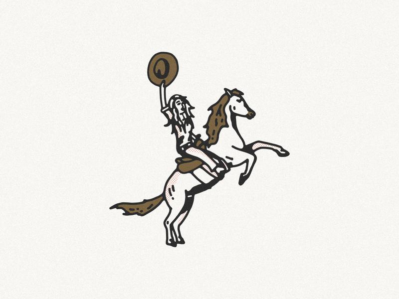 Maverick Illustration desert horse illustraion yeehaw horses horse cowgirl illustration cowgirl