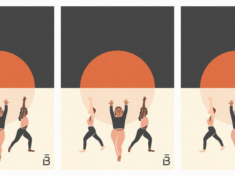 Barre3 Art Print women empowerment sunrise lifting community teamwork workouts workout barre3 art print