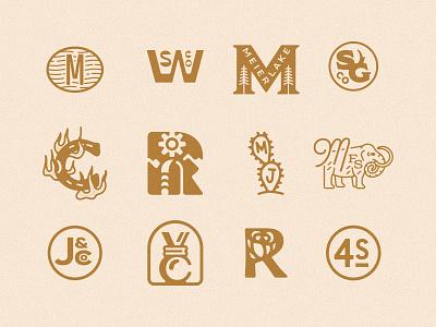 Monogram Roundup monogram design monogram letter mark monogram logo identity branding and identity branding design branding monogram