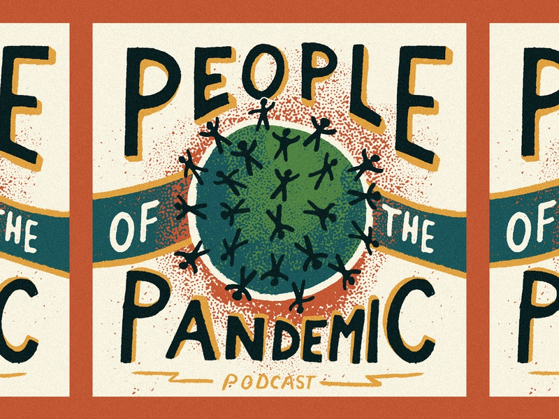 Podcast Cover podcast artwork people illustration people icons people coronavirus covid pandemic podcast logo podcast art podcast