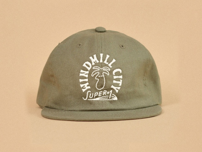 Windmill City Super #1 Branding embroidered patch embroidered hat embroidery logodesign gift shop palm springs palm tree logo palm tree logo brand identity branding design branding