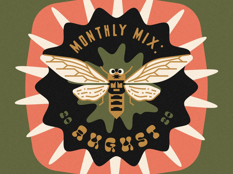 Monthly Mix: August & September music player cool bug music art album art playlist cover playlist music monthly mix