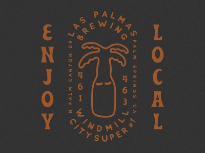 Windmill City Super #1 x Las Palmas someplace special gift shop brewery small business shop small shop local palm tree beer beer palm tree palm springs windmill city las palmas