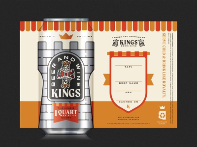 Kings Beer & Wine - Crowler beer branding branding beer packaging design beer packaging beer label beer can beer crowler
