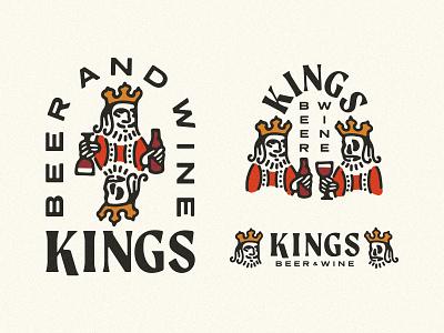 Kings Beer & Wine - Branding king playing cards cards brand identity beer and wine beer wine kings branding and identity logo branding design branding
