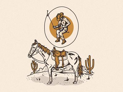 Sonoran Cowboy desert illustration cowboy horse sonoran sonora desert sonoran desert