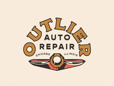 Outlier Auto Branding branding illinois chicago auto logo brading auto repair logos car auto mechanic logo brand identity