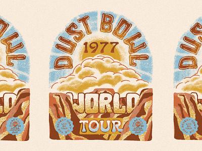 Dust Bowl World Tour desert gig poster tour poster music art album art vintage concert t concert t world tour dust bowl cactus country