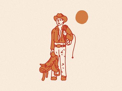 Cowpoke saddle tgif weekend cowpoke cowboy desert illustration