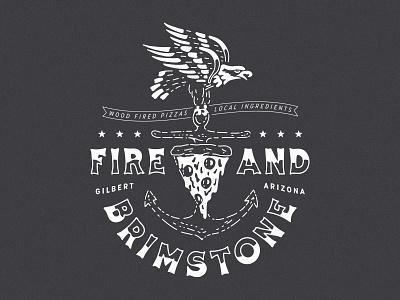 Pepperoni Eagle eagle restaurant apparel merch apparel illustration anchor pizza eagle pizza pepperoni