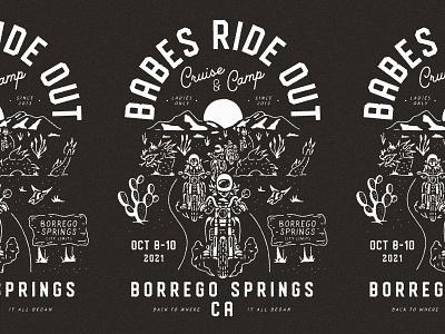 Unused Concept explore camp cruise babes ride out moto ride moto borrego springs high desert joshua tree desert motorcycle