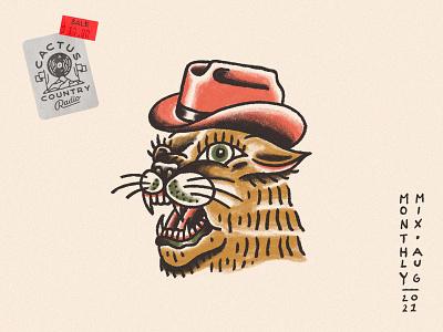 Monthly Mix: August cat album art playlist playlist cover august cowboy hat cougar mountain lion hat cowboy monthly mix