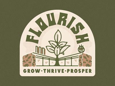 Flourish ATX texas austin sun plant illustration storefront building illustration plant life plants plant store plant shop plant flourish kern club